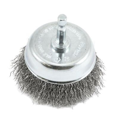 3 In. X 1/4 In. Hex Shank Coarse Crimped Wire Cup Brush
