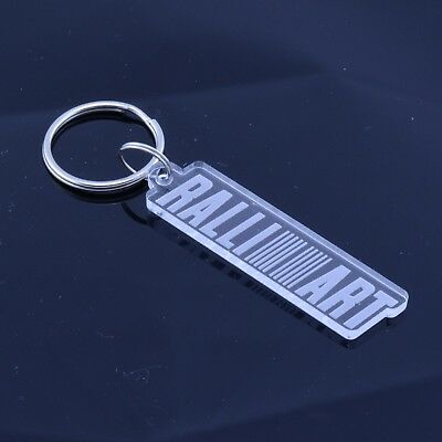 Handmade Laser Cut Clear Acrylic Gift Land Rover Badge Car Keyring