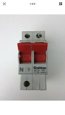Crabtree Loadstar 125a DP Isolator Main Incoming Switch 125SW2
