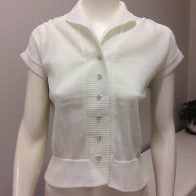 Original Vintage 40s 50s Top Blouse ,Medium ,High Waisted , Pinup Swing