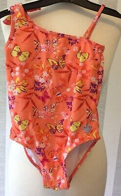 Girls SKECHERS Orange Peach Butterfly Swimming Costume In Age 5 Years Old