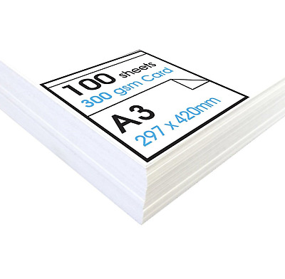 Artway« Studio 'High' White Card - A3-300gsm - Ideal for Presentation Display, -