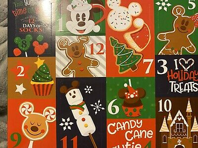 Disney Parks Disneyland 12 Days of Socks Christmas Holidays 2019 Yummiest Snacks