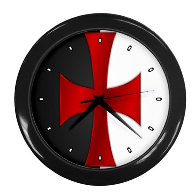 Knights Templar Knight Masonic Round Wall Clock *Great Gift Item*
