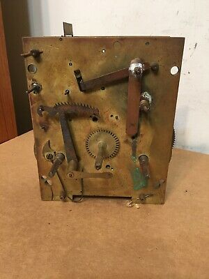 Antique 8 Day Grandfather Or Long Case Clock Movement Parts