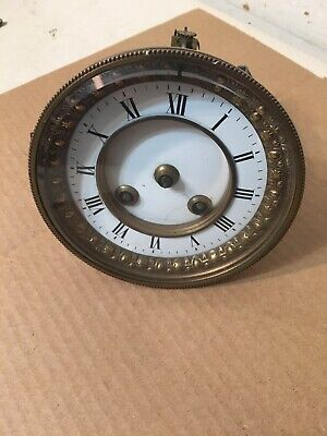 Antique French Mantle Clock Movement Dial & Bezel Lion Mark Japy Marti Style