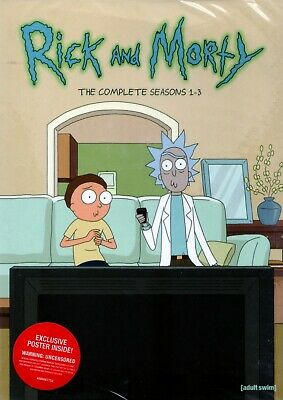 Rick and Morty: The Complete Series Seasons 1-3 New 6 DVD Box Set Free Shipping