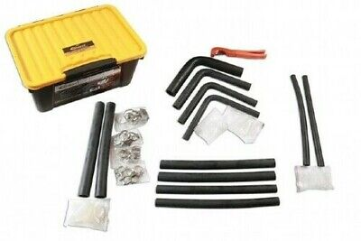 Radiator Hose Repair Kit 61 Pce Toolbox Hoses Connectors Clips Pipe Cutter Tool