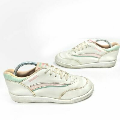 Vintage Pro Wings Womens Lace Up White Pastel Tennis Shoes Size 10 USA Made VTG