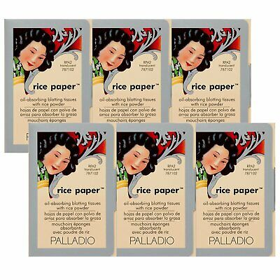 Palladio Rice Paper Tissues, Translucent,Face Blotting Sheets With Natural Rice