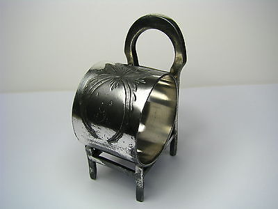 "SILVERPLATE SILVER PLATED NAPKIN RING NAPKIN HOLDER ""Chair"" c1890s Rare! Mono G"