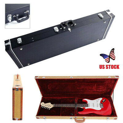 Glarry ST High Grade Electric Guitar Square Hard Case Deluxe Rectang Case US