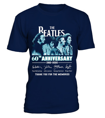 The Beatles 60th Anniversary 1960 2020 Memories Signature Tshirt Men Women