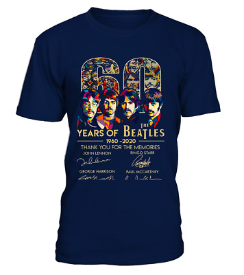 The Beatles 60th Anniversary 1960 2020 Memories Signature T-shirt Men Women