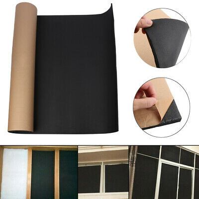 200X100cm Home Sound-proofing Deadening Insulation Foam Mat Acoustic Panel 10mm