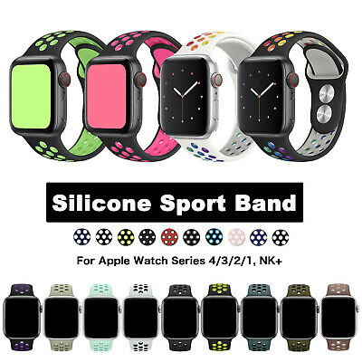 Silicone Sport iWatch Band Strap For NK+ Apple Watch Series 1 2 3 4 5 2019