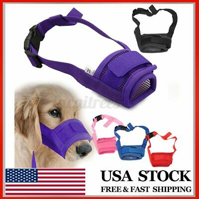 Adjustable Pets Dog Muzzle Basket Anti-bite Barking Stop Safety Mouth Muzzle US