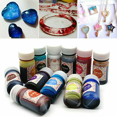 13 Bottles 13 Color Epoxy UV Resin Coloring Dye Colorant Resin Pigment DIY Craft