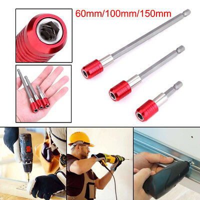 "3pcs 1/4"" Hex Shank Magnetic Screwdriver Extension Bit Holder Kits Quick Release"