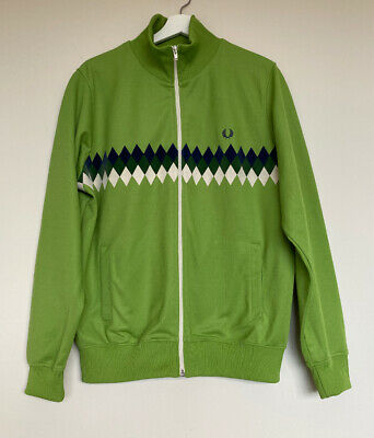 Fred Perry Track Top Jacket M Retro Zip Front Rare