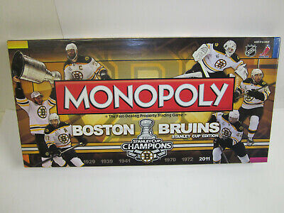 Boston Bruins monopoly board game Stanley Cup Edition NHL rare 2011 unused