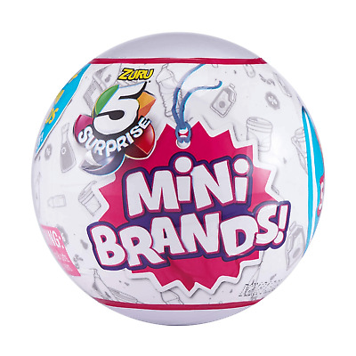 Mini Brands 5 Surprise  1 BALL by ZURU SOLD Out Unopened Brand New Sealed