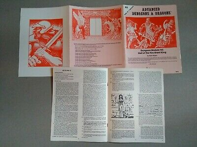 Hall Of The Fire Giant King Ad&D G3 Tsr 9018