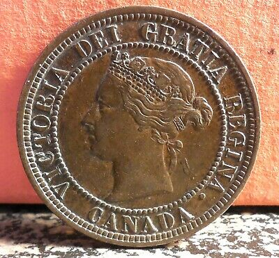 Nice Better Grade 1881 H Double Die Large Cent Error from Canada Zoell # R4d-R4c