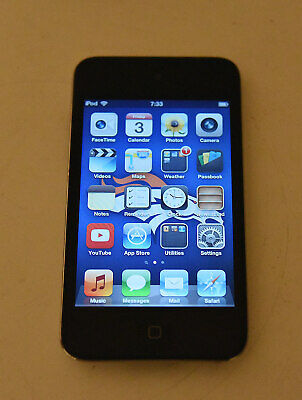 Black Apple iPod Touch 4th Generation  A1367 32GB Chrome back with case