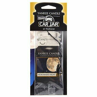 Yankee Candle Car Jar Air Freshener Freshner Fragrance Scent - Midsummers Night