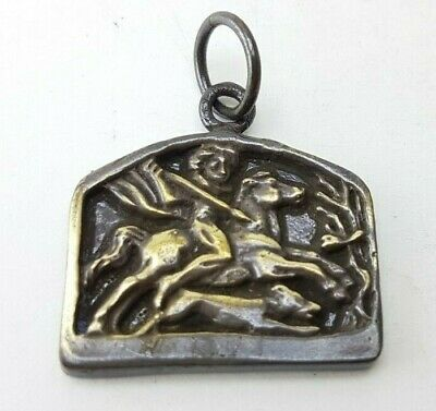Ancient  Roman Bronze-in original style Pendant  Amulet  medallion