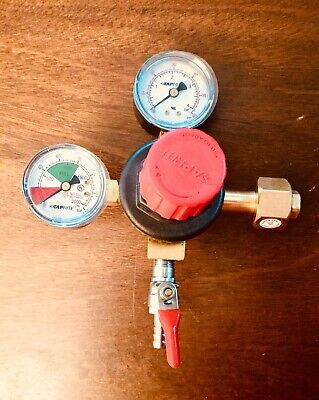 Taprite CO2 Beer Regulator, Double Gauge, Single 5/16 Check Valve Kegerator