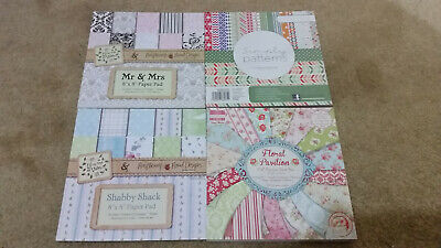 """4 x  8""""x 8"""" Patterned Backing Paper Packs."""