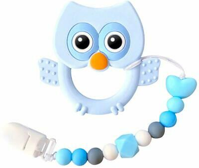 Baby Teething Toys, Soft Silicone Teether for Baby and Toddler with Chew Beads P