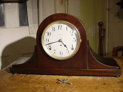 Antique Seth Thomas 1921 Mahogany 8 Day Tambour Shelf Clock Working Well