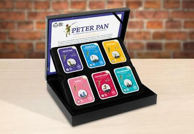 Very Rare 2019 Peter Pan Silver Proof 50p Capsules 6 Coin Set Limited Edition