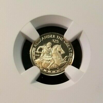 1997 Cook Islands Gold $25 Alexander The Great Ngc Pf 69 Ultra Cameo Top Pop