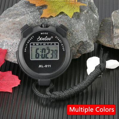 4 Colors Digital Sport Stopwatch Counter   Handheld Timer Stop Watch Chronograph