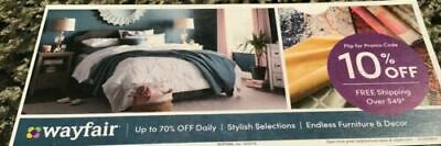 WAYFAIR 10 % off Coupon For First Time Shoppers! Expires 2/29/20
