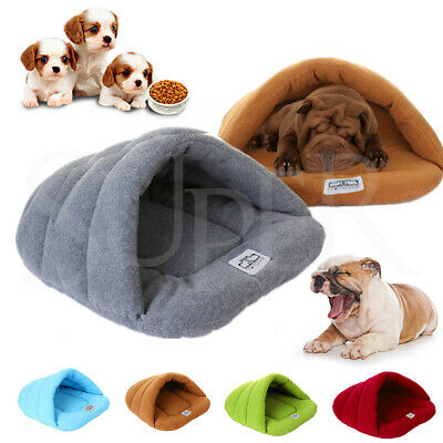 Pet Dog Cave Pad Bed Mat Warm Puppy Nest House Soft Cat Sleeping Bag comfy