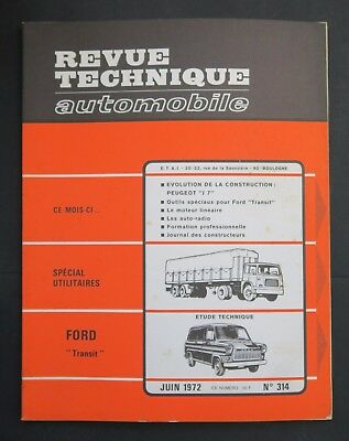 REVUE TECHNIQUE AUTOMOBILE RTA FORD TRANSIT PEUGEOT J7 n°314