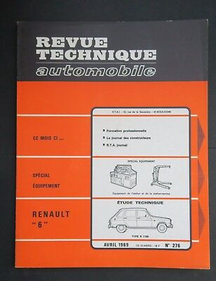 REVUE TECHNIQUE AUTOMOBILE RTA RENAULT 6 n°276