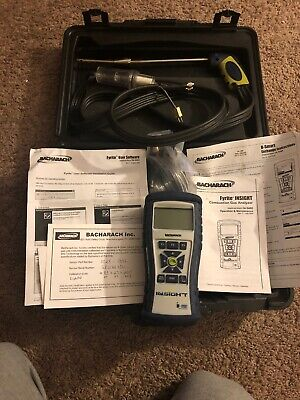 Bacharach 24-7308 InTech Fyrite Combustion Analyzer WORKS!! (MISSING O2 Sensor)