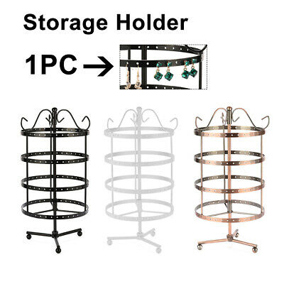 23Hole Round Rotating Earring Necklace Jewelry Display Stand Rack Holder Storage