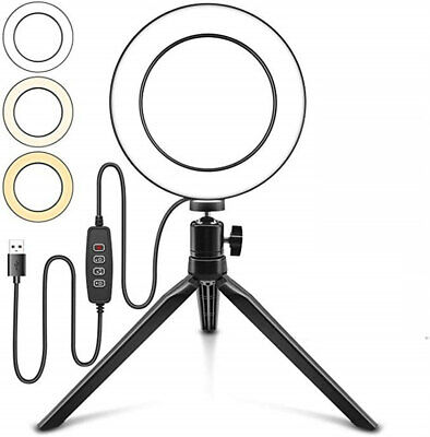 LED Ring Light Lamp Phone Selfie Camera Studio Video Dimmable Tripod Stand USA