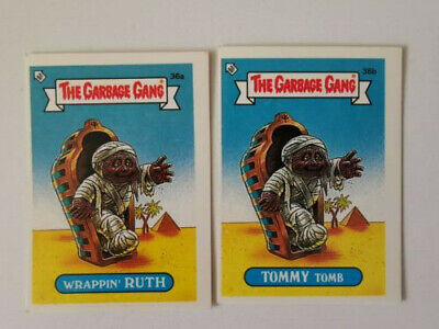 Garbage Gang Trading Cards - Wrappin Ruth and Tommy Tomb Pair