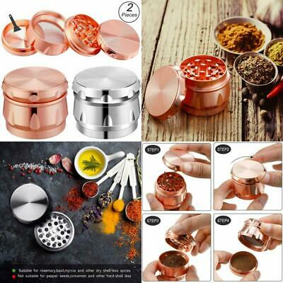 1.7 Inch Large 4 Pieces Tobacco Grinder Sharp Metal Spice/Herb Crusher Set of 2-