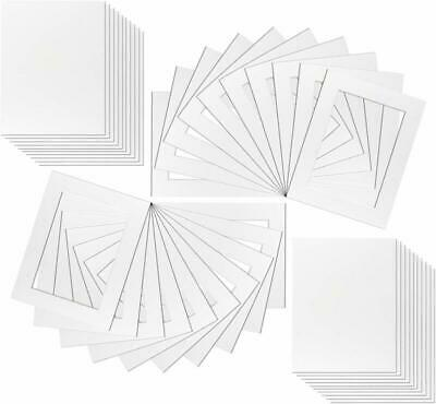 20 x White Picture Mounts for Photos by Framing Incredible | Includes Backs and