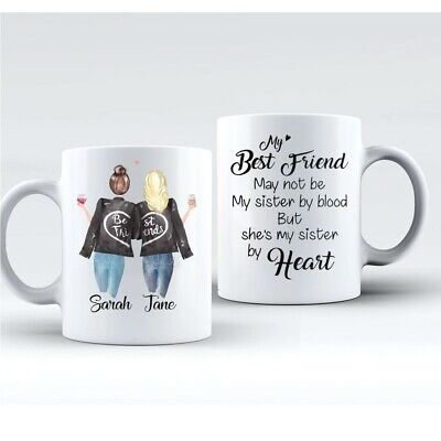 2 x Personalised Best Friend Mug! identical mugs with your Best friend