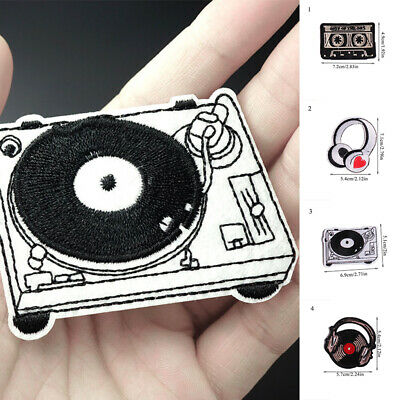 Clothing Sew Cute Fabric Badge DIY Apparel Musical Instruments Embroidery Patch
